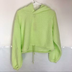 Wild Fable Neon Green Tie Cropped Sweater sz XL